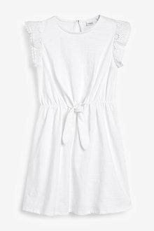 Next Jersey Broderie Sleeve Dress (3-16yrs) - 258722