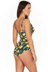 Lemons Navy Cross Front One Piece Swimsuit
