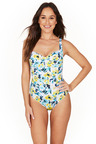 Before Sunrise Twist Front One Piece Swimsuit