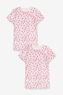 Next 2 Pack Short Sleeved Printed Thermal Tops (2-16yrs) - 258844