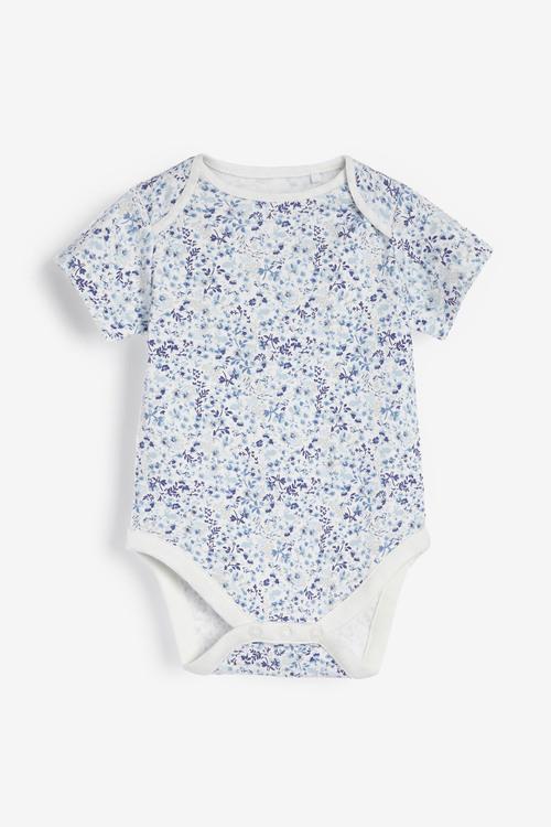 Next 5 Pack Ditsy Short Sleeved Bodysuits (0mths-3yrs)