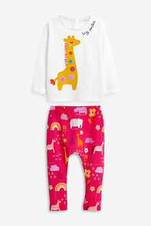 Next Giraffe T-Shirt And Leggings Set (0mths-2yrs) - 258872