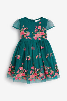 Next Embroidered Occasion Dress (0mths-2yrs) - 258876