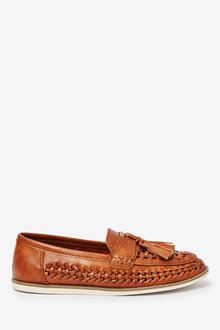 Next Woven Tassel Loafers (Older) - 258882