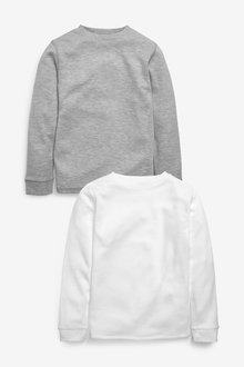 Next 2 Pack Long Sleeved Thermal Tops (2-16yrs) - 258902
