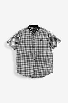 Next Gingham Baseball Shirt (3-16yrs) - 258922
