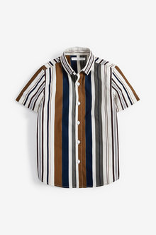 Next Stripe Short Sleeve Shirt (3-16yrs) - 258925