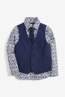 Next Waistcoat, Shirt And Tie Set (12mths-16yrs) - 258940