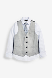 Next Waistcoat,Shirt and Tie Set (12mths-16yrs) - 258941