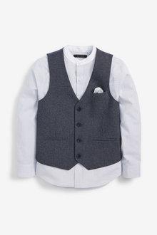 Next Puppytooth Waistcoat/Shirt Set (12mths-16yrs) - 258942