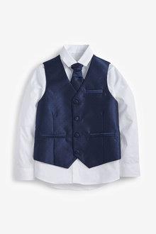 Next Wedding Waistcoat, Shirt And Tie Set (12mths-16yrs) - 258947