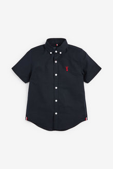 Next Oxford Shirt (3-16yrs)-Short Sleeve - 258953