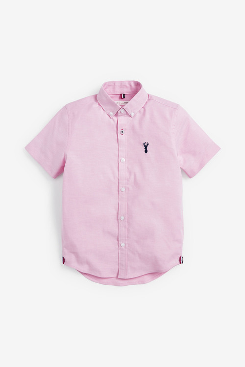 Next Oxford Shirt (3-16yrs)-Short Sleeve