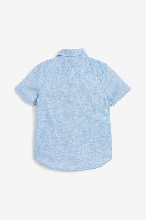 Next Linen Mix Shirt (3-16yrs)-Short Sleeve