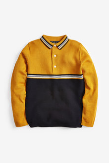 Next Knitted Colourblock Polo (3-16yrs) - 258959