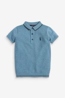 Next Textured Knitted Poloshirt (3-16yrs) - 258960