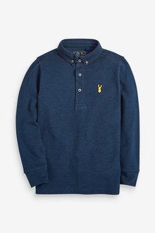 Next Long Sleeve Pique Polo (3-16yrs) - 258963