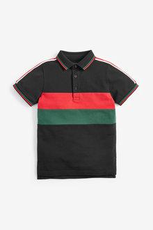 Next Colourblock Taped Poloshirt (3-16yrs) - 258965
