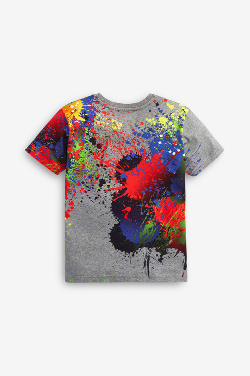 Next Splat Print T-Shirt (3-16yrs)