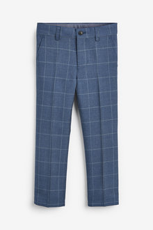 Next Windowpane Check Formal Trousers (3-16yrs) - 258994