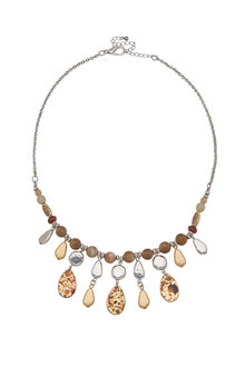 Amber Rose Natural Stone Necklace - 259007