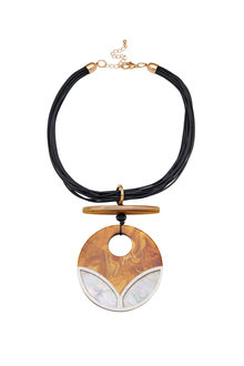 Amber Rose Resin Deco Pendant - 259011