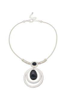 Amber Rose Teardrop Stone Pendant - 259015