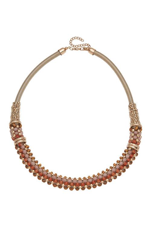 Amber Rose Handbeaded Collar