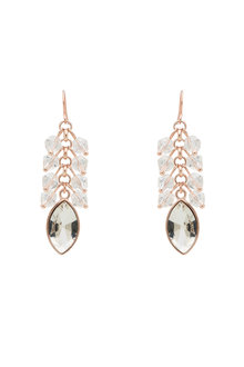 Amber Rose Drop Stone Earrings - 259026