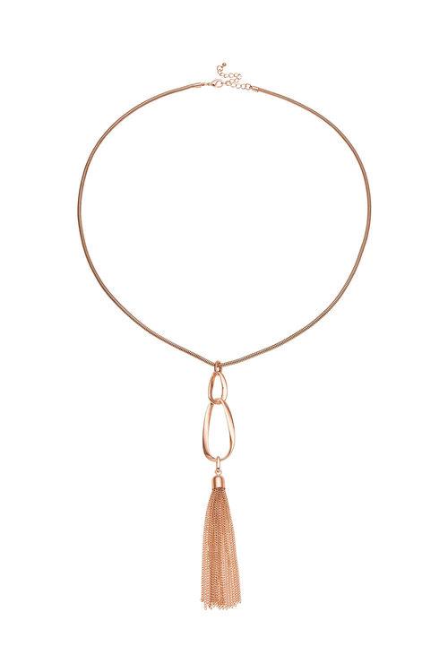 Amber Rose Infinity Long Pendant