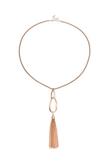 Amber Rose Infinity Long Pendant - 259027