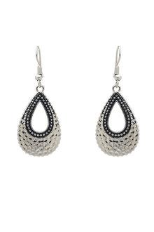Amber Rose Teardrop Texture Earrings - 259030