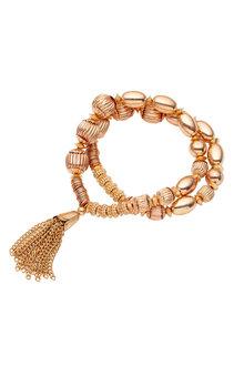 Amber Rose Gold Multi Bead Bracelet - 259037