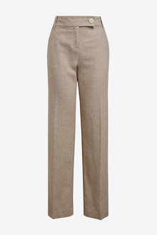 Next Linen Blend Boot Cut Trousers - 259041