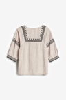 Next Embroidered Stripe Blouse