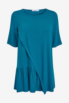 Next Maternity Nursing Ruffle T-Shirt - 259099