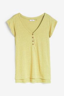 Next Ruffle V-Neck T-Shirt - 259114