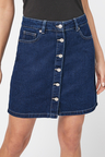 Next Button Through Mini Skirt