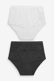 Next Cotton Shaping High Waist Knickers Two Pack - 259192