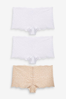 Next Lace Knickers Three Pack-Short - 259208