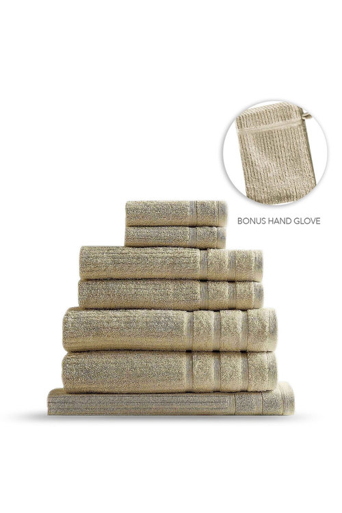 Royal Comfort Eden Egyptian Cotton Eight-Piece Luxury Towel Set