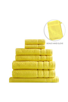 Royal Comfort Eden Egyptian Cotton Eight-Piece Luxury Towel Set - 260232