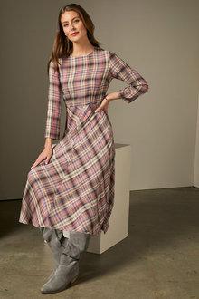 Grace Hill Check Midi Dress - 260260