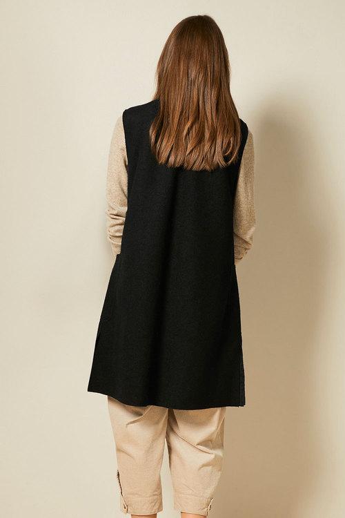 Grace Hill Boiled Wool Blend S/Less Coat