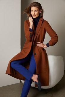 Grace Hill Boiled Wool Blend Coat - 260263