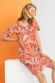 Capture Linen Blend Shift Dress - 260294