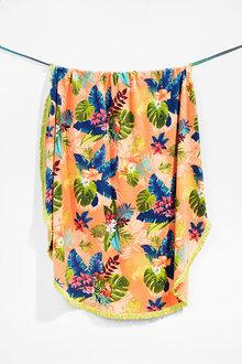 Bambury Desigual Floral Round Beach Towel - 260335
