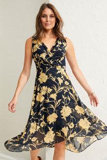 Capture Chiffon Wrap Dress - 260359