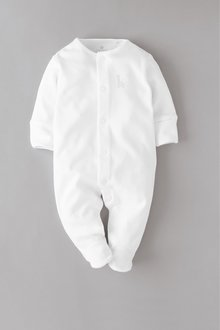 Next 3 Pack GOTS Organic Cotton Sleepsuits (0-18mths) - 260510
