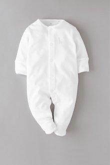 Next 3 Pack GOTS Organic Cotton Sleepsuits (0-18mths) - 260510